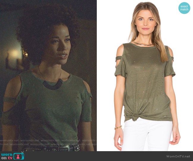 Kendall Holes Tee by Generation Love worn by Maia Roberts (Alisha Wainwright ) on Shadowhunters