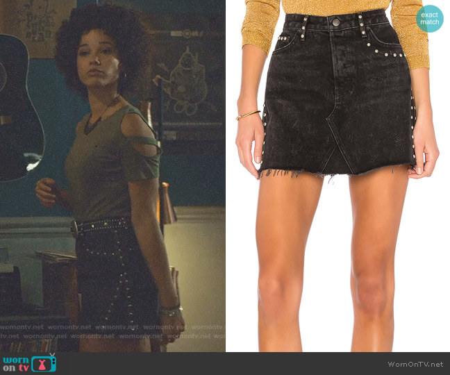 Eva A-Frame Gusset Skirt by GRLFRND worn by Maia Roberts (Alisha Wainwright ) on Shadowhunters