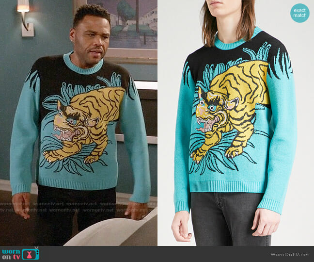 Gucci Tiger Jumper worn by Andre Johnson (Anthony Anderson) on Blackish