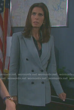 Hope's double breasted blazer on Days of our Lives