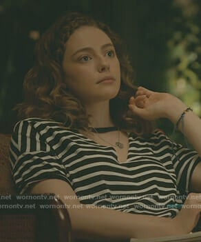 Hope's striped choker neck t-shirt on The Originals