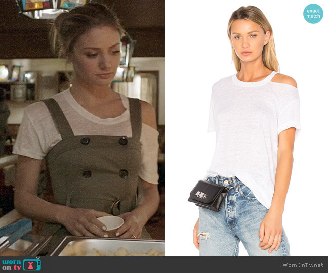 IRO Bacau Tee worn by Megan Morrison (Christine Evangelista) on The Arrangement