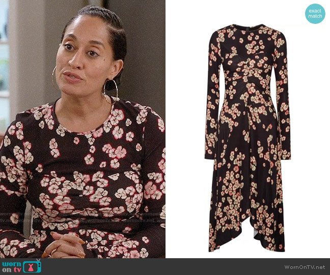 Isabel Marant Diana Dress worn by Tracee Ellis Ross on Blackish