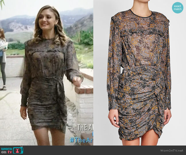 Isabel Marant Etoile Printed Dress worn by Megan Morrison (Christine Evangelista) on The Arrangement