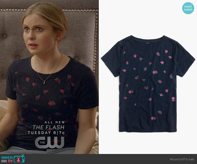 J. Crew Rose Print T-shirt worn by Rose McIver on iZombie