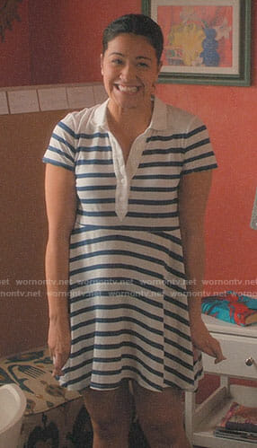 Jane's striped polo dress on Jane the Virgin