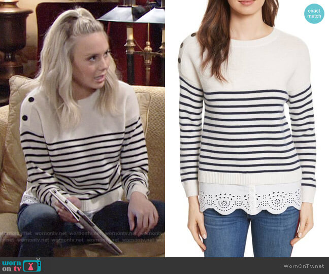Joie Aefre Sweater worn by Melissa Ordway on The Young & the Restless