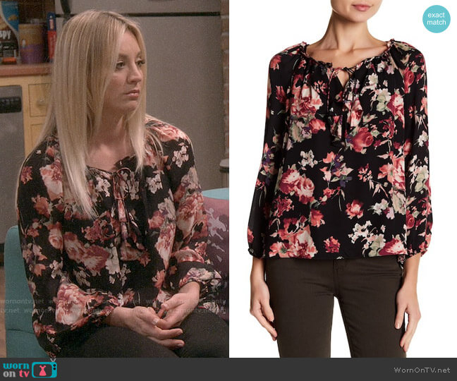 Joie Nadege Blouse worn by Kaley Cuoco on The Big Bang Theory