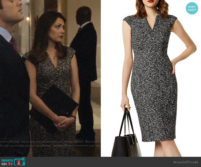Karen Millen Tweed Sheath Dress worn by Italia Ricci on Designated Survivor