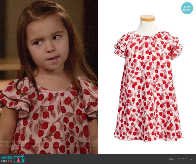 Kate Spade Cherry Print Flutter Sleeve Dress worn by Ruth (Danielle Rockoff) on New Girl