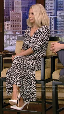 Kelly's floral wrap maxi dress on Live with Kelly and Ryan