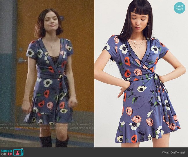 Urban Outfitters Kimchi Blue Rita Wrap Dress worn by Lucy Hale on Life Sentence
