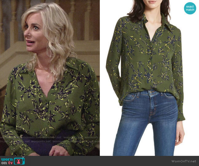 L'Agence Nina Top in Rifle worn by Eileen Davidson on The Young & the Restless