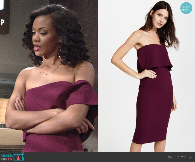 Likely Driggs Dress worn by Hilary Curtis (Mishael Morgan) on The Young & the Restless