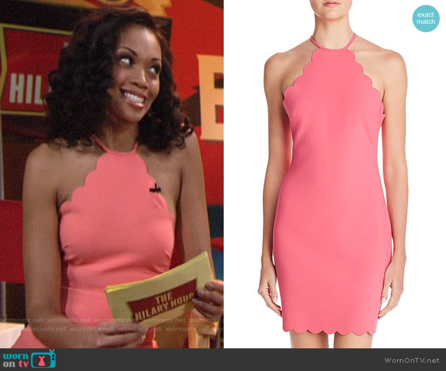 Likely Everly Scalloped Sheath Dress worn by Mishael Morgan on The Young & the Restless