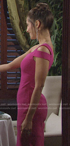 Lily's pink one-shoulder dress on The Young and the Restless