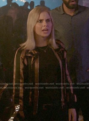 Liv's striped bomber jacket on iZombie