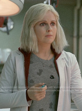 Liv's sequin heart t-shirt on iZombie