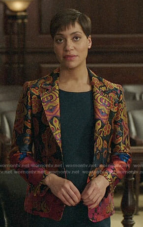 Lucca's floral blazer on The Good Fight