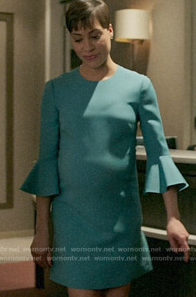 539b0d7eda WornOnTV: Lucca's teal bell sleeve dress on The Good Fight | Cush Jumbo |  Clothes and Wardrobe from TV