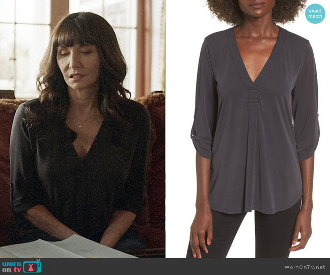 Lush Henley Top worn by Gail Klostermann (Mary Steenburgen) on Last Man On Earth
