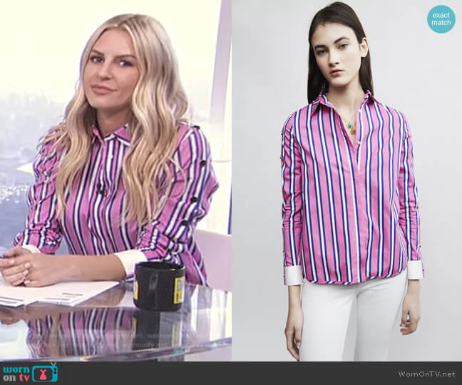 'Cenali' Shirt by Maje worn by Morgan Stewart (Morgan Stewart) on E! News