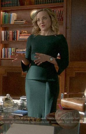 Marissa's green peplum dress on Bull