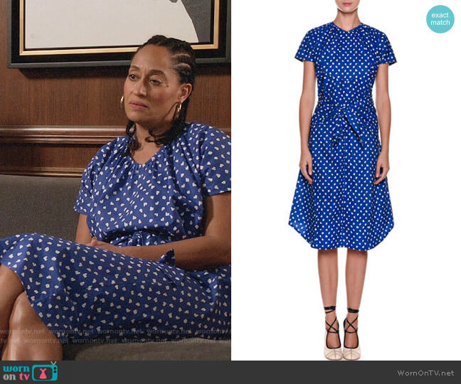 Marni Paintbrush Dot Shift Cotton Dress worn by Tracee Ellis Ross on Blackish