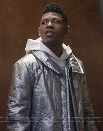 Hakeem's silver metallic jacket on Empire