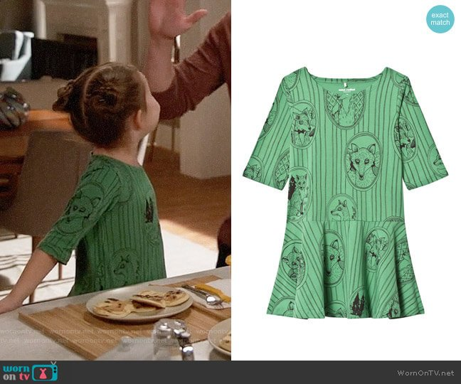 Mini Rodini Fox Family Dress worn by Ruth (Danielle Rockoff) on New Girl