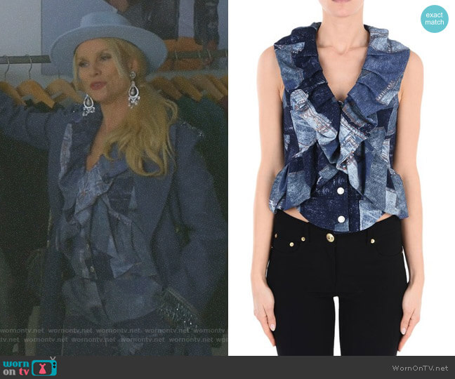 Sleeveless Shirt by Moschino worn by Nicollette Sheridan on Dynasty
