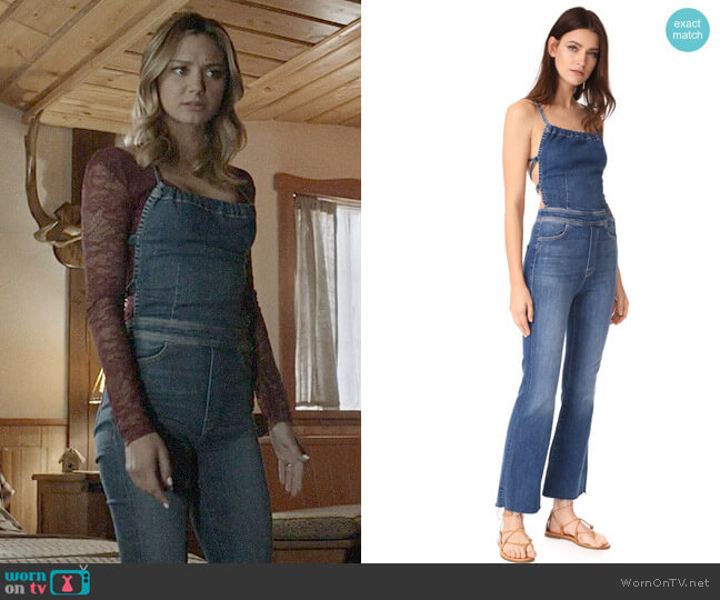 Mother The Tie Back Fray Jumpsuit worn by Megan Morrison (Christine Evangelista) on The Arrangement