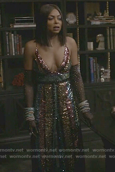 Cookie's striped sequin Jumpsuit on Empire