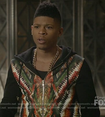 Hakeem's multicolored hoodie on Empire