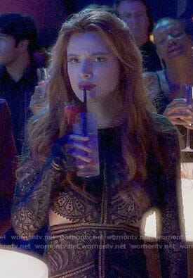 Paige's lace dress with cutouts on Famous in Love