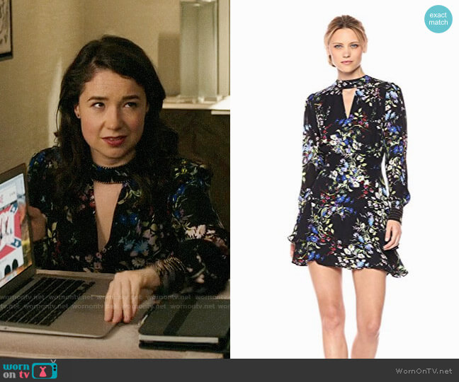 Parker Chrissy Dress in Boboli worn by Sarah Steele on The Good Fight