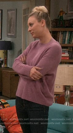 Penny's purple sweater on The Big Bang Theory