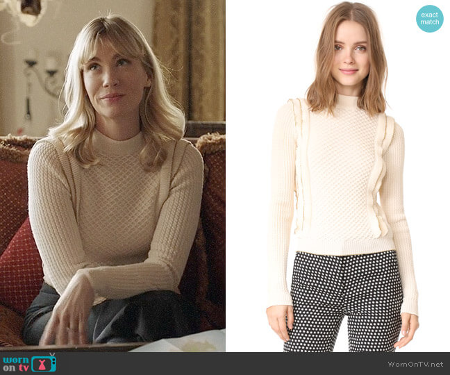 Philosophy di Lorenzo Serafini Ruffle Pullover worn by January Jones on Last Man On Earth