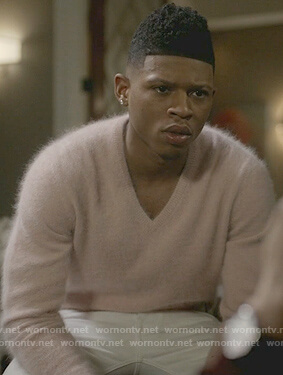Hakeem's pink v-neck sweater on Empire