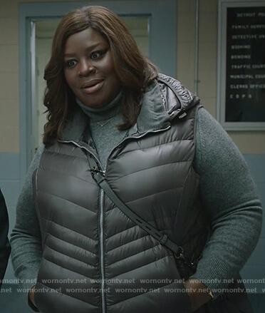 Ruby's hooded puffer vest on Good Girls