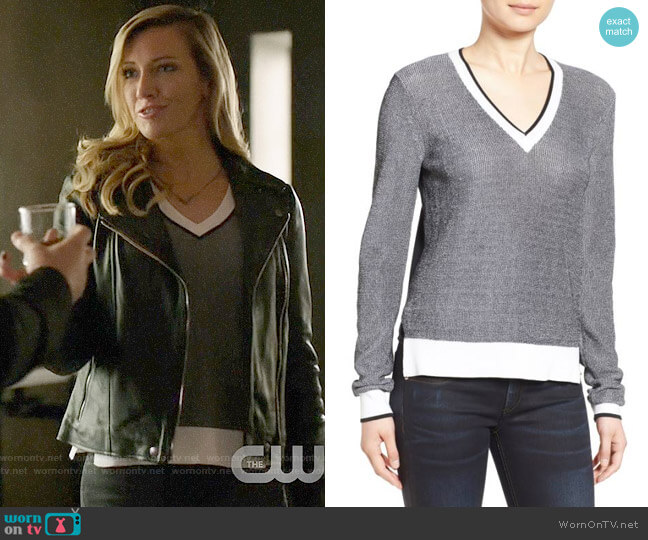Rag & Bone Ainsley Sweater worn by Laurel Lance (Katie Cassidy) on Arrow