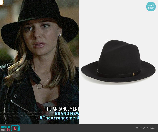 Rag & Bone Floppy Brim Felted Wool Fedora worn by Christine Evangelista on The Arrangement