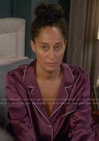 Bo's purple pajamas on Black-ish