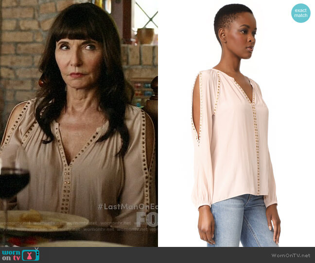 Ramy Brook Danielle Blouse worn by Gail Klostermann (Mary Steenburgen) on Last Man On Earth