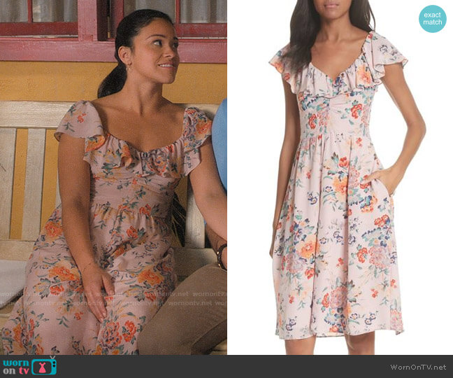 Rebecca Taylor Marlena Dress worn by Gina Rodriguez on Jane the Virgin