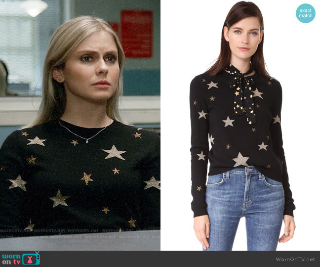 RED Valentino Star Sweater worn by Liv Moore (Rose McIver) on iZombie