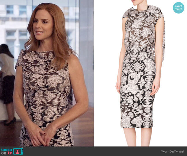 Roland Mouret Eugene Top and Norley Skirt worn by Donna Paulsen (Sarah Rafferty) on Suits