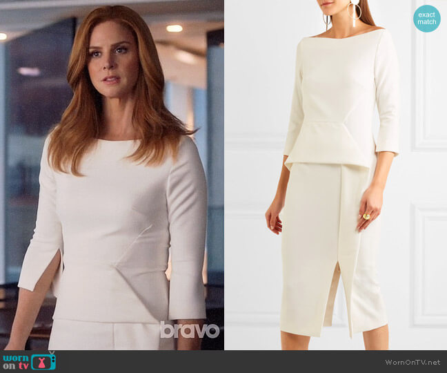 Roland Mouret Ardingly Dress worn by Donna Paulsen (Sarah Rafferty) on Suits