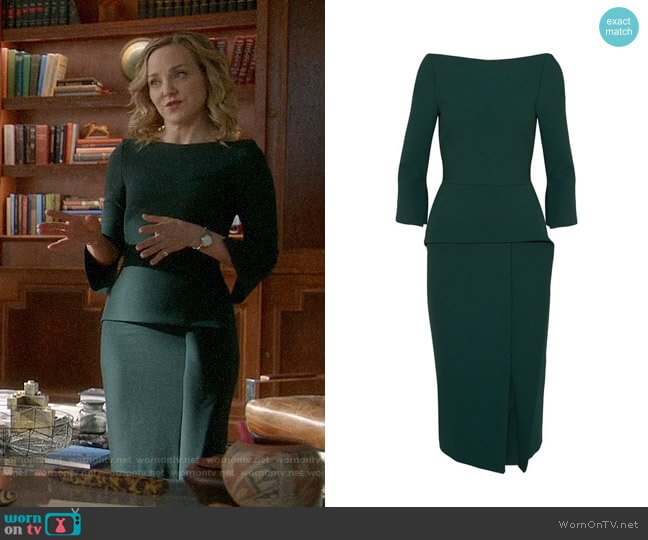 Roland Mouret Ardingly Dress worn by Geneva Carr on Bull