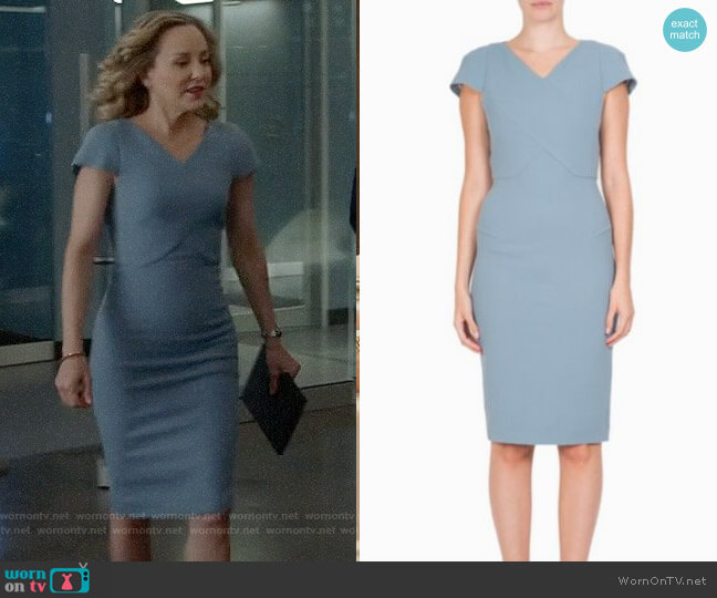 Roland Mouret Tournay Dress worn by Marissa Morgan (Geneva Carr) on Bull